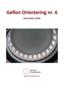 Forsiden af Gefion Orientering nr. 6 december 2018