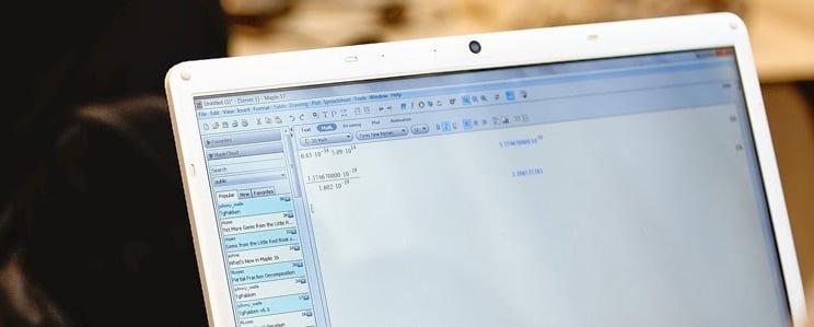 Computerskærm med et program åbent