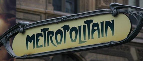 Skilt med teksten: Metropolitain