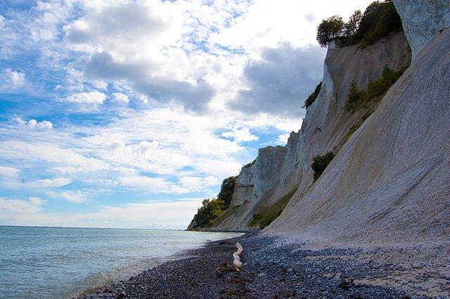 Møns klint set fra stranden