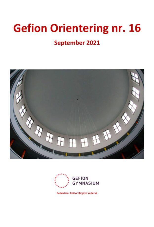 Forsiden af Gefion Orientering 16 september 2021